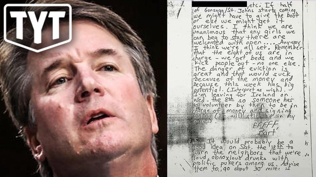 Image result for image kavanaugh's letter signed bart