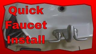 How Install Glacier Bay Bathroom Faucets