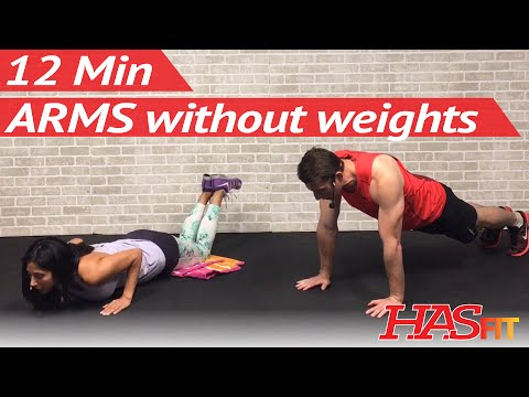 12 Min Arm Workout Without Weights For Women & Men - Arms Workout At Home No Equipment