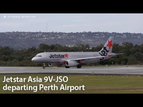 FIVE YEARS OLD TODAY! Jetstar Asia (9V-JSO) departing Perth Airport.