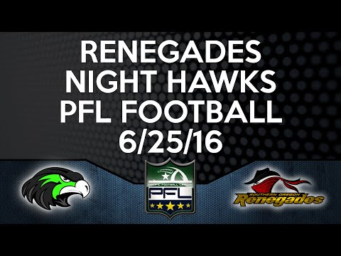 FULL GAME | PFL Football | Renegades vs Nighthawks (6/25/16)