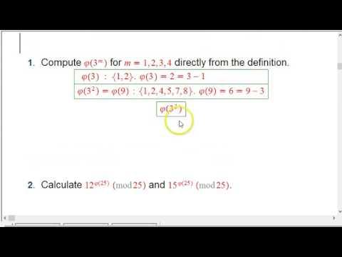 Euler Totient (phi) Function Examples (Part 1)