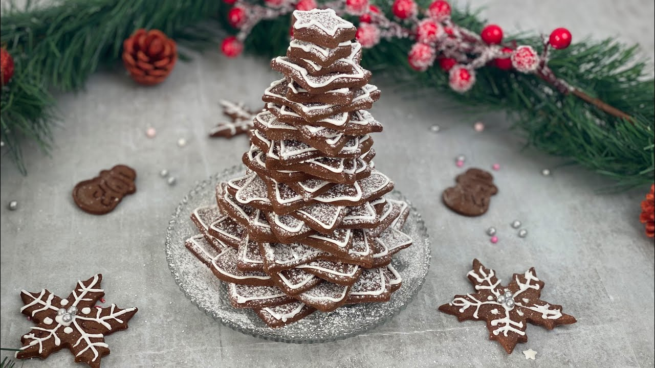 Bradulet 3D din biscuiti - reteta de Crăciun   E.Gustos @Bucatareste cu Rodica