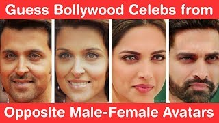 Guess 28 Bollywood Celebs from Opposite Male-Female Avatars! Genius Challenge