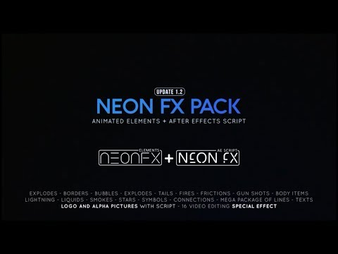 300-neon-effects-elements-&-scripts---after-effects-template