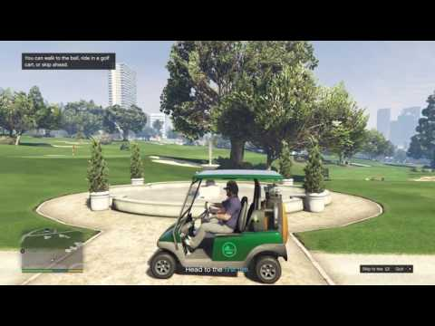 HANG OUT FRANKLIN VS MICHEAL GOLF CLUB (GTA 5 MULTIPLAYER Funny Moments)