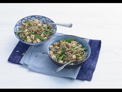 Sobanoedels met tofu en sugarsnaps - Allerhande