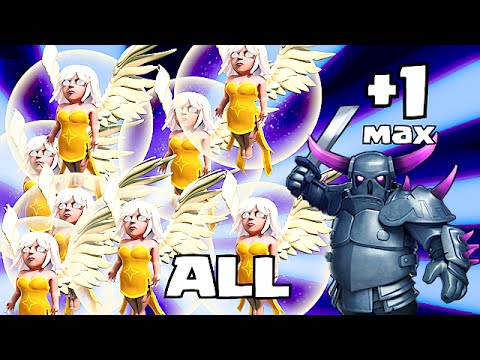 Clash of clans MAX PEKKA w/ ALL HEALERS (Awesome Raids)