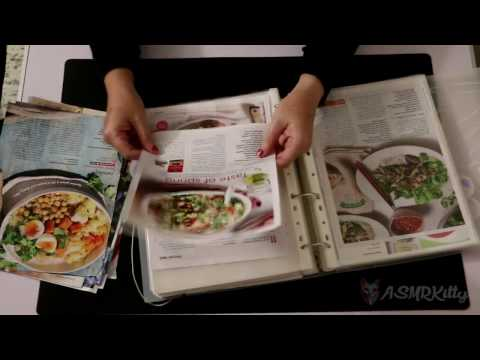 Sorting recipes into binder. Paper shuffling | ASMR silent, no talking