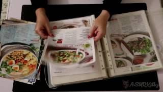 Sorting recipes into binder. Paper shuffling   ASMR silent, no talking