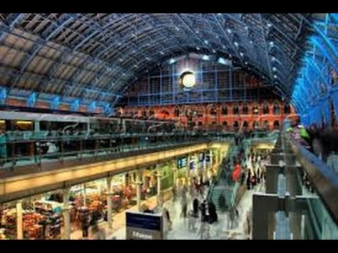 Full Walk through Tour of Kings Cross St Pancras London Train Station and Shops