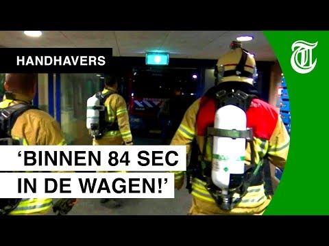 Snelste brandweer van NL in actie