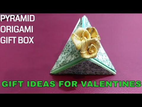 DIY valentine's special Pyramid paper Gift box / ORIGAMI #1- By Live My Moments
