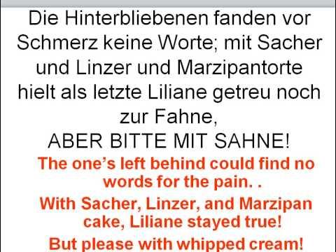 Aber Bitte Mit Sahne Lyrics English German