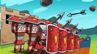 Minecraft - ROMAN FORT DEFENSE - Barbarian Attack! (Mob Battles)