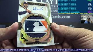 2018 Topps Five Star Baseball 8 Box Case Break #1 SICK ALTUVE LOGOMAN!
