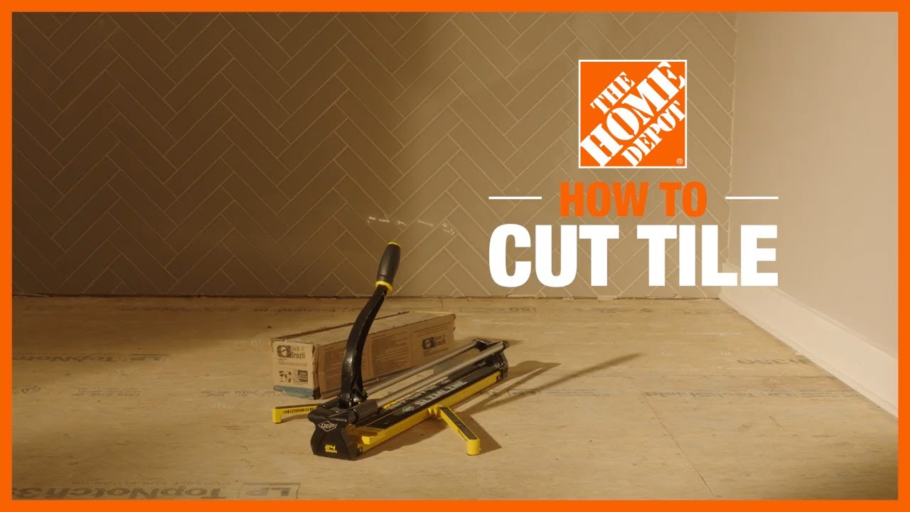 how to cut tiles the home depot