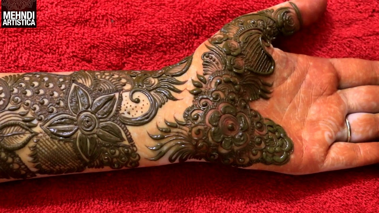 Intricate Mehndi Patterns : Learn step by bridal intricate henna mehndi design for hand