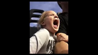 cute little girl scream of death on her first roller coaster ride funny