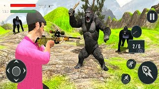 Angry King Kong Attack-Wild Animal Shooting - Android GamePlay - Hunting Games Android