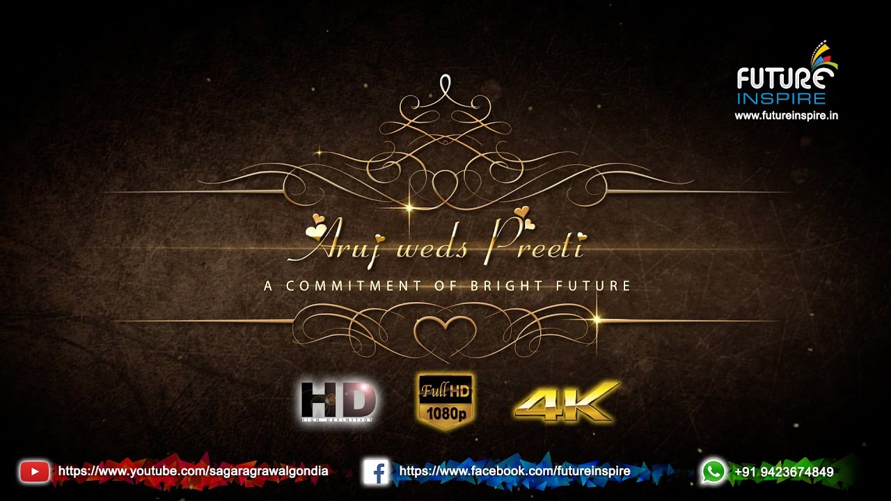 Aruj weds Preeti {Love Marriage} WhatsApp Wedding Invitation Video ...