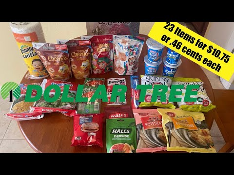 Dollar Tree Couponing Haul Using Manufacturer Coupons 23 items for $10.75 or 0.46 cents each