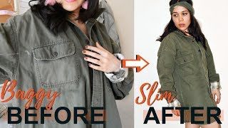 HOW TO EASILY & SEAMLESSLY RESIZE YOUR OVERSIZED JACKET