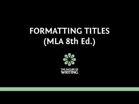 Citing the Title of a Source | MLA Citation Rules