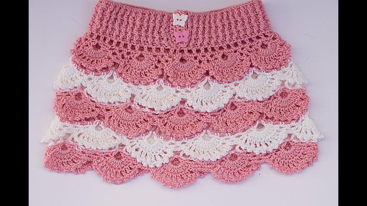 d2403927b Falda a crochet para niña paso a paso con patrones dentro