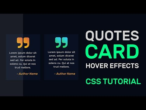 CSS Quotes Card With Hover Effects | Animated Quotes Card CSS | CSS Cards | CSS Tutorial thumbnail