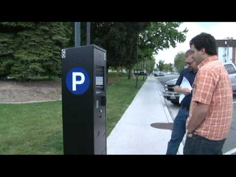 You can use coins or credit cards at City's new parking mete