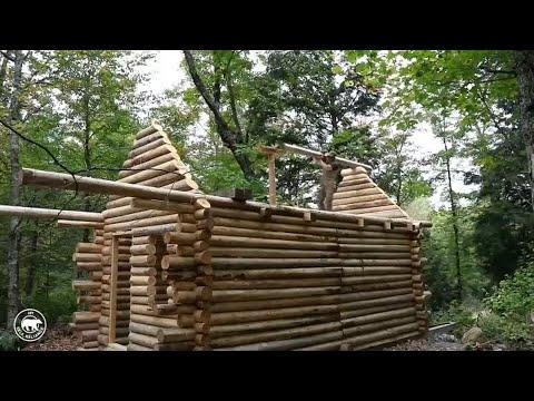 Mit Blossen Handen Kanadier Baut Haus In Der Wildnis Youtube