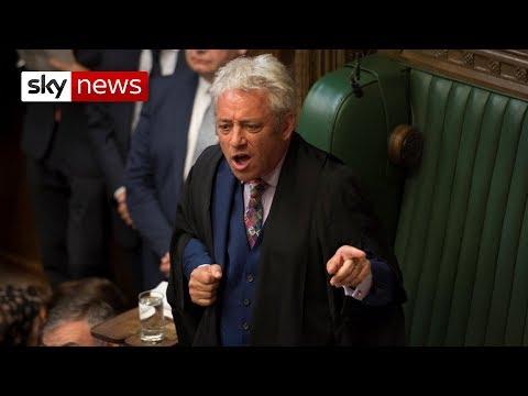 Speaker John Bercow gives Boris Johnson a telling off