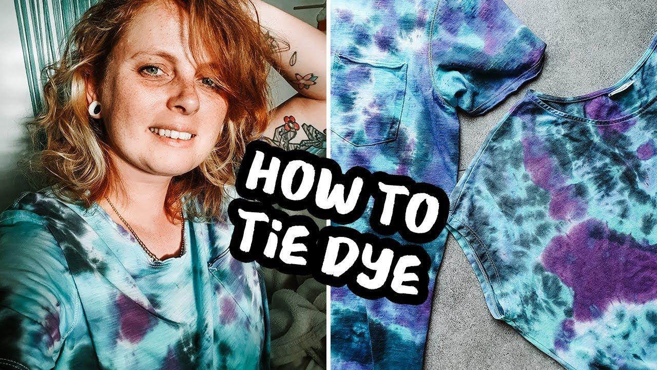 איך לצבוע חולצות עם טאי דאי