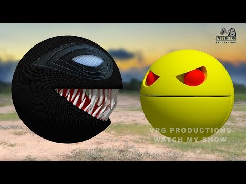 PacMan VS Spider PacMan !! The Battle