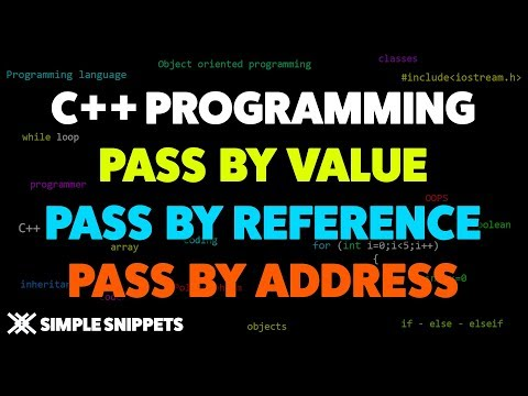 Pass by Value | Pass by Reference | Pass by Address in C++ Programming