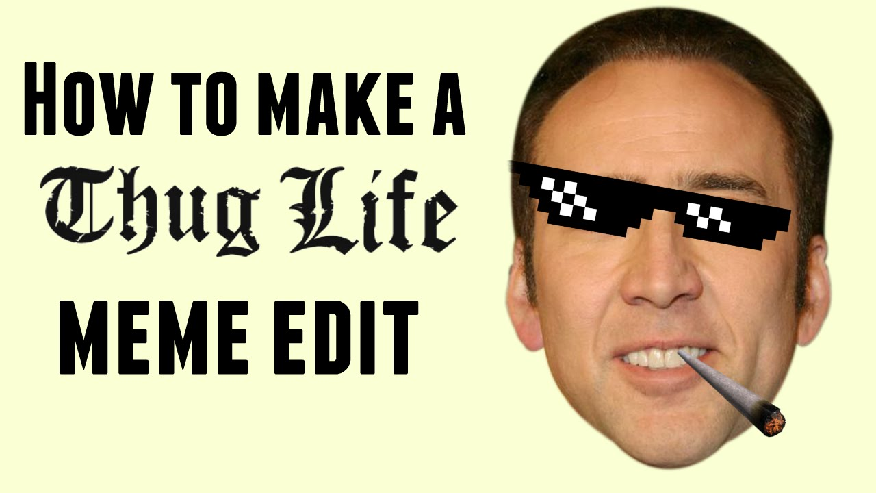 maxresdefault how to make a thug life meme edit in imovie! youtube
