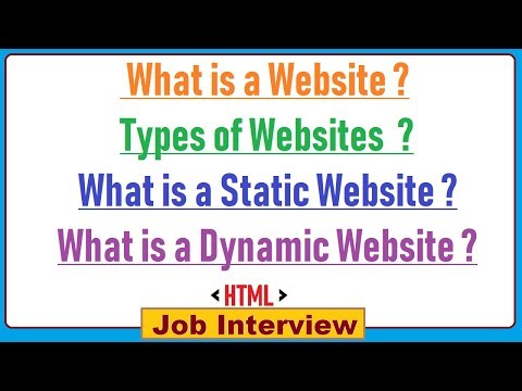 16. What is a Website & Types of Websites  with  Definition ?