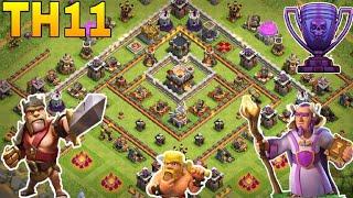 th11 trophy base 2018/coc th11 trophy pushing base 2018/war base/legend base /clash of clan