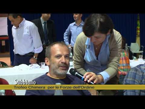 Subbiano: Premiazione del Coni Trofeo Chimera Forze dell