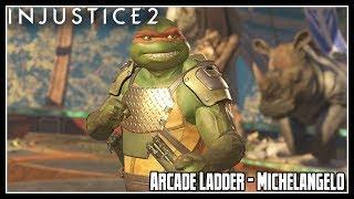 Injustice 2 Arcade Ladder Mode - Michelangelo