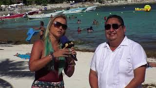 Miami TV - Jenny Scordamaglia en Tulum con el Director de Turismo