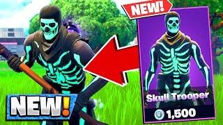 So I Bought The *NEW* Skull Trooper Skin in Fortnite Battle Royale..