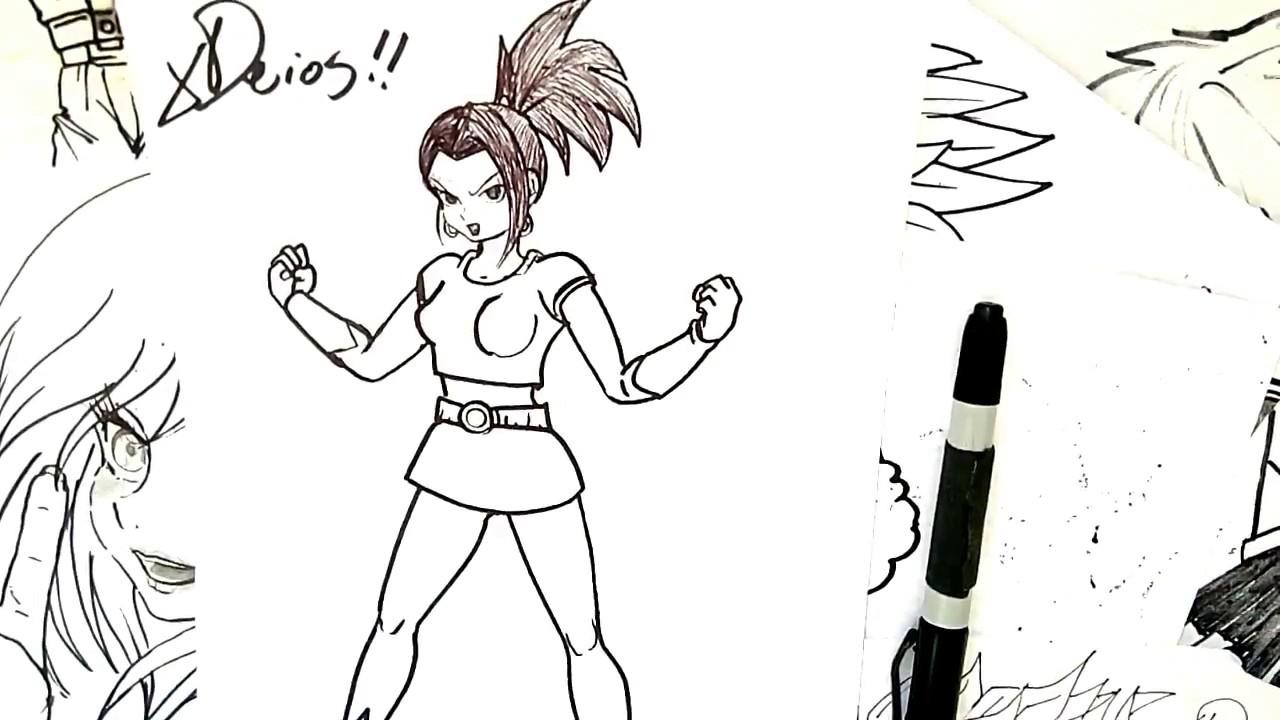 Dibuja A Kale La Saiyan Yuri De Dragon Ball Super Xdeios