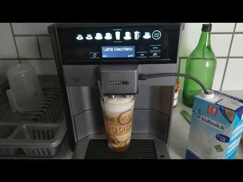 Siemens Eq 6 Plus S100 Test Latte Macchiato Honig Zimt Siemens Eq 6 Plus Test Youtube