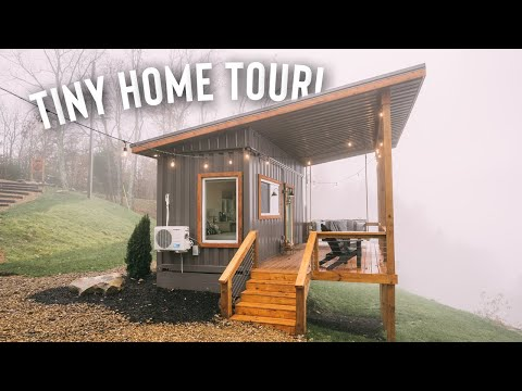 Shipping Container Tiny House Tour! 160sqft Airbnb w/ Endless View!