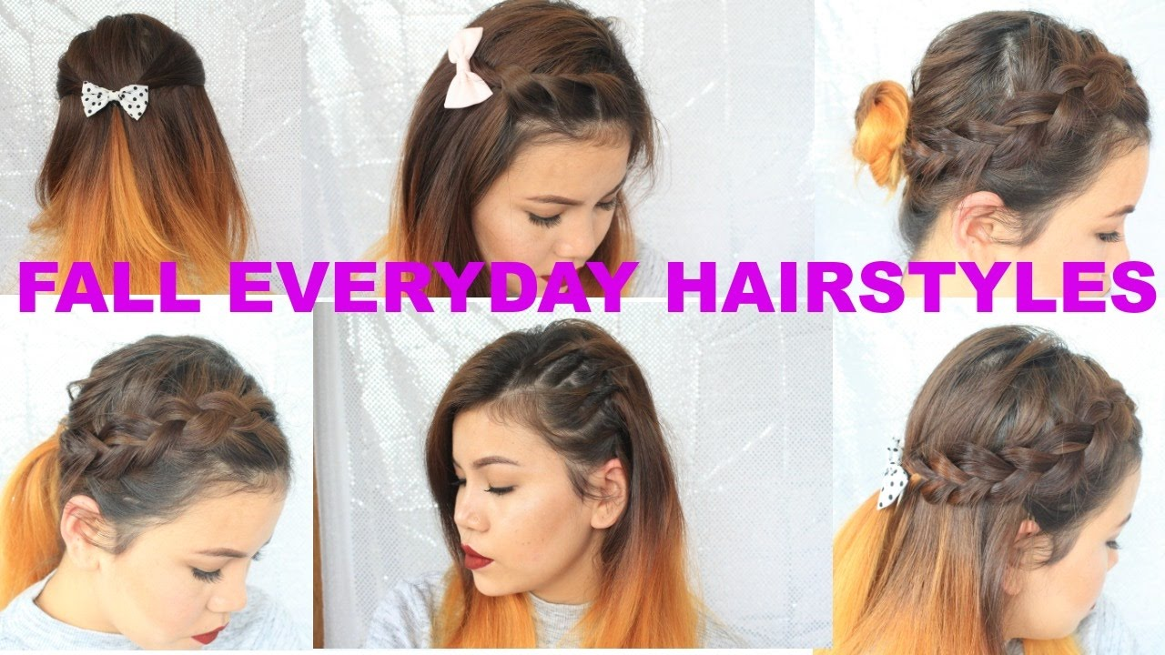 8 quick and easy cute fall hairstyles for everyday / nepalistyle/nepal