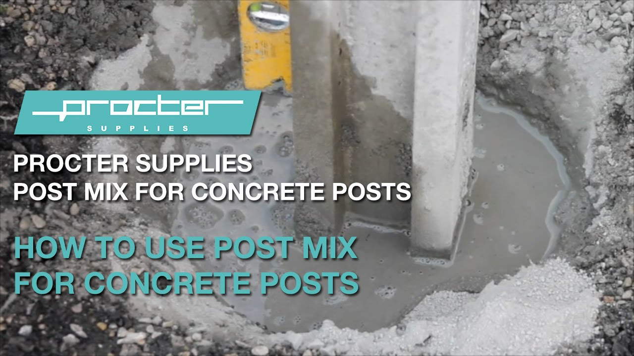How To Use Post Mix For Concrete Posts Youtube