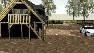 eiken bijgebouw eiken carport met eiken gebint, jacuzzi vergunningsvrije aanbouw van gebouwerbij.nl