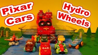 Disney Pixar Cars Hydro Wheels Fun in the Home Made Pool with McQueen Cars